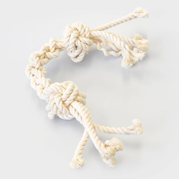 rope dog toy with knots