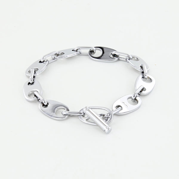 Brummel Links Chain Bracelet polished silver