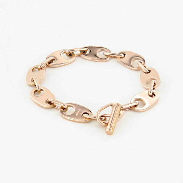 Brummel Links Chain Bracelet in rose gold