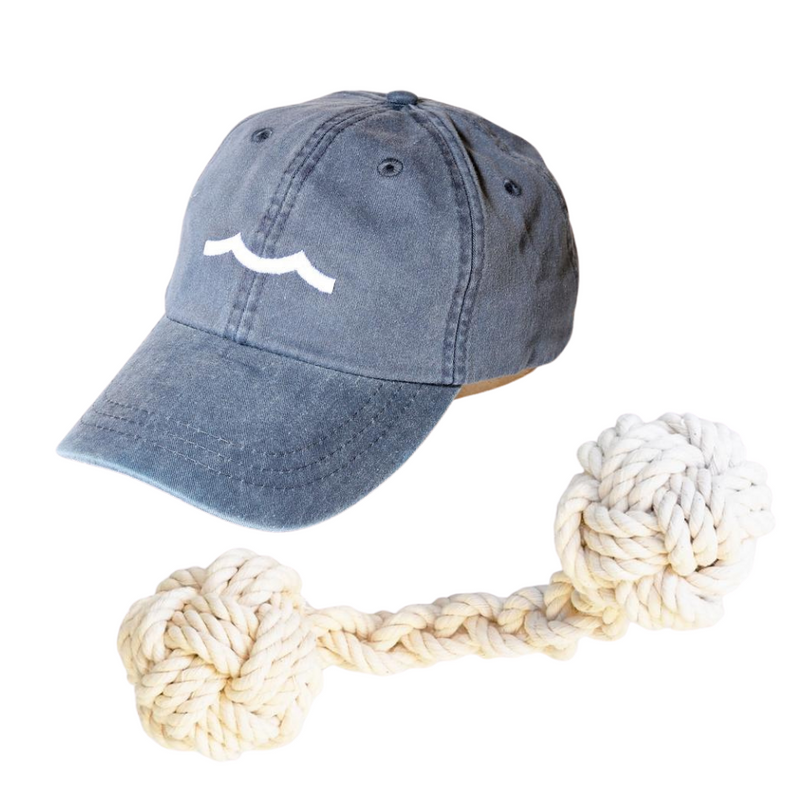 Sailormade Hat and rope dog toy