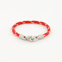 Contender Single Wrap Rope Bracelet with Stainless Steel Brummels