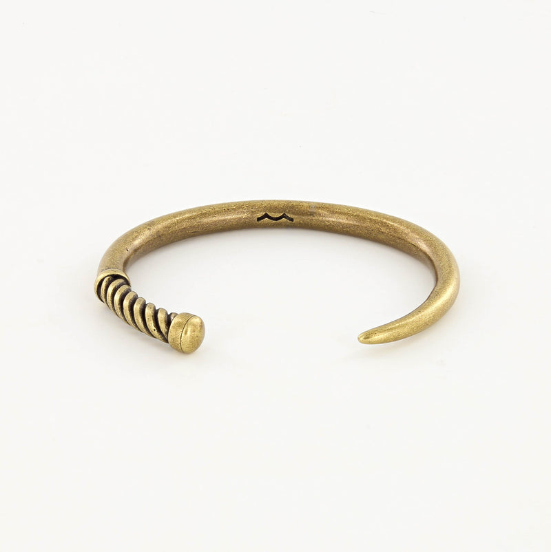 Fid Cuff Bracelet in Antique Brass