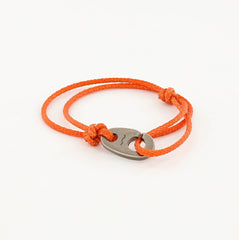 Charger Marine Cord Bracelet in Weathered Silver