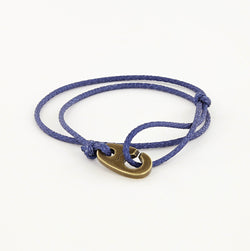 Charger Marine Cord Bracelet in Weathered Brass Faded Blue