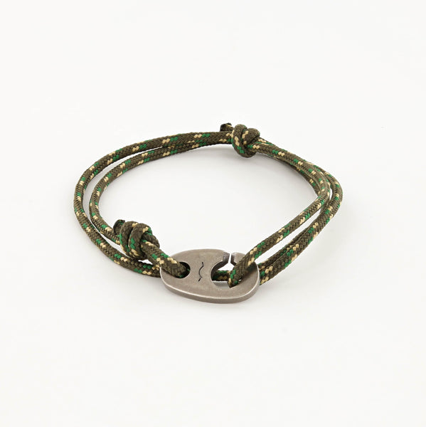 Charger Marine Cord Bracelet in Weathered Silver Camo