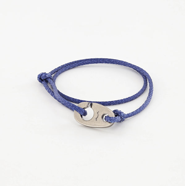 Charger Marine Cord Bracelet in Faded Blue