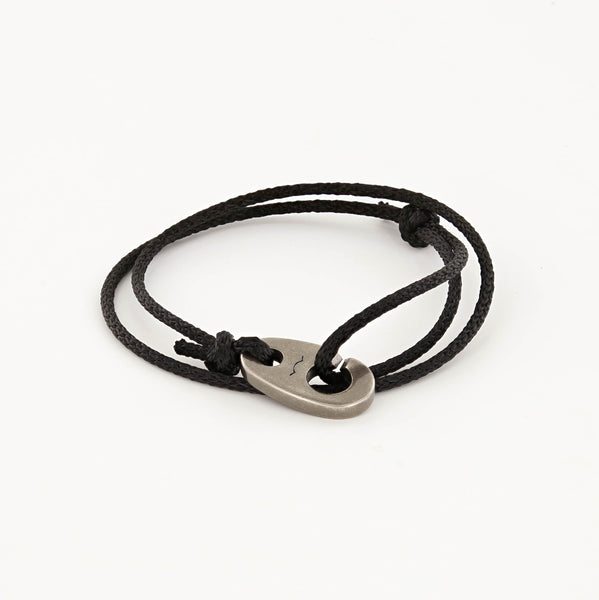 Charger Marine Cord Bracelet in Faded Black