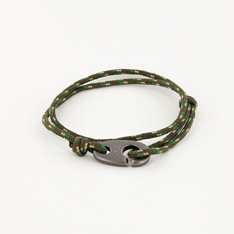 Charger Marine Cord Bracelet in Matte Black in Camo
