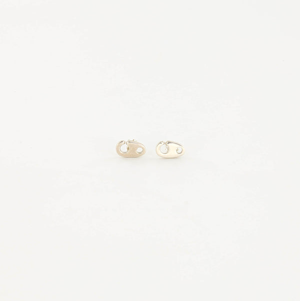 Mini Brummel Earrings in Sterling Silver