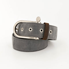 Lookout Waxed Cotton Belt with Nickel Shackle Buckle