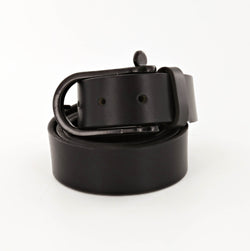 Standard Black Leather Belt with Shackle