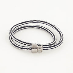 Voyager Double Wrap Rope Bracelet with Stainless Steel Winch