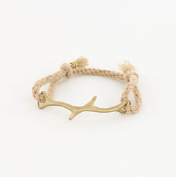 CORAL Drift ROPE BRACELET IN MATTE BRASS