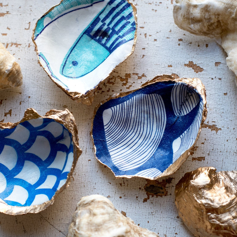 diy kits make your own decoupage oyster shell