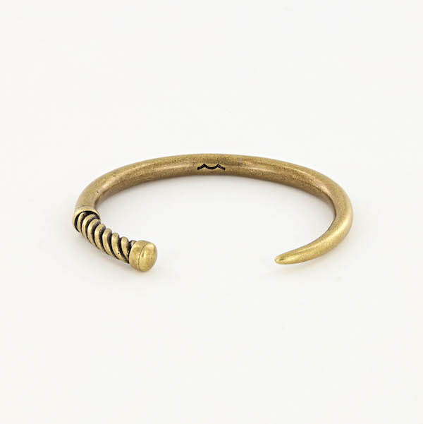 men's nautical fid cuff bracelet in brass