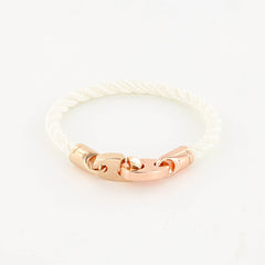 Lure Single Wrap Rope Bracelet with Rose Gold Brummels