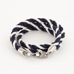 Elsewhere Triple Wrap Rope Bracelet with Stainless Steel Brummels
