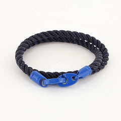 Signal Double Wrap Rope Bracelet with Powder Coated Brummels