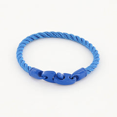 Signal Single Wrap Rope Bracelet with Powder Coated Brummels