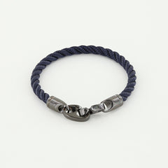 Player Single Wrap Rope Bracelet with Nickel Antique Brummels