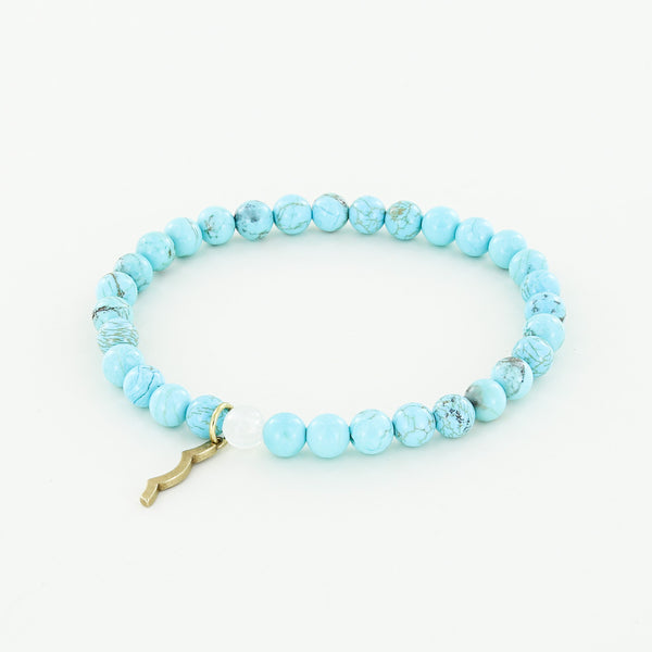Rayminder UV Awareness Bracelet for Sun Safety in 6mm turquoise