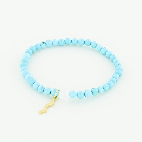 Rayminder UV Awareness Bracelet for Sun Safety in 4mm turquoise