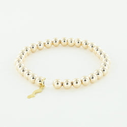 Rayminder UV Awareness Bracelet for sun safety in 6mm yellow gold