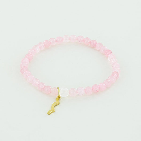 Sun Safety UV Awareness Bracelet rose quartz Rayminder