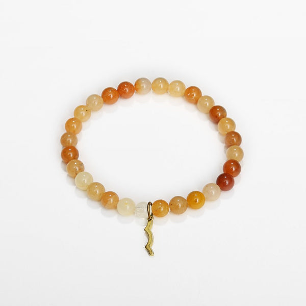 Rayminder beach bracelet | UV beaded bracelet in 6mm topaz jade