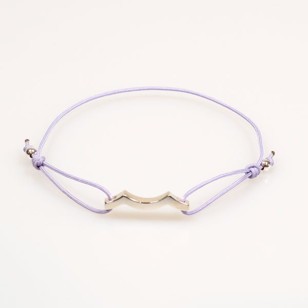 Tidal Wave Bracelet in Sterling Silver lavender purple