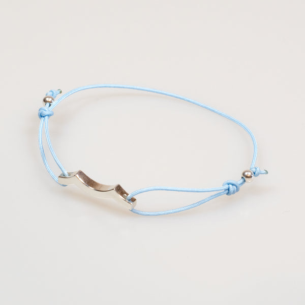 Tidal Wave Bracelet in Sterling Silver sky blue