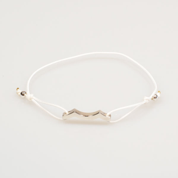 Tidal Wave Bracelet in Sterling Silver white
