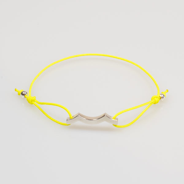 Tidal Wave Bracelet in Sterling Silver in yellow