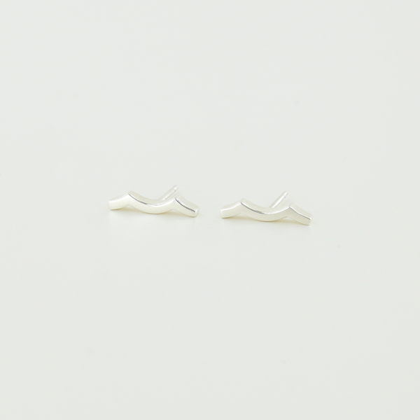 Tidal Wave Earrings in Sterling Silver