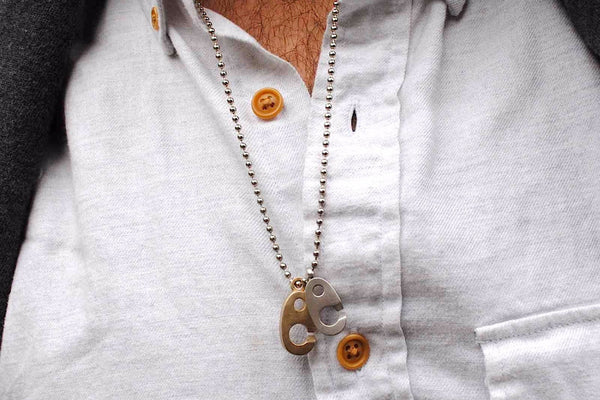 Sailormade Big Brummel Necklace in Stainless Steel and Brass - Made in the USA