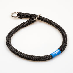 Riptide Reggie Rope Dog Collar in Black