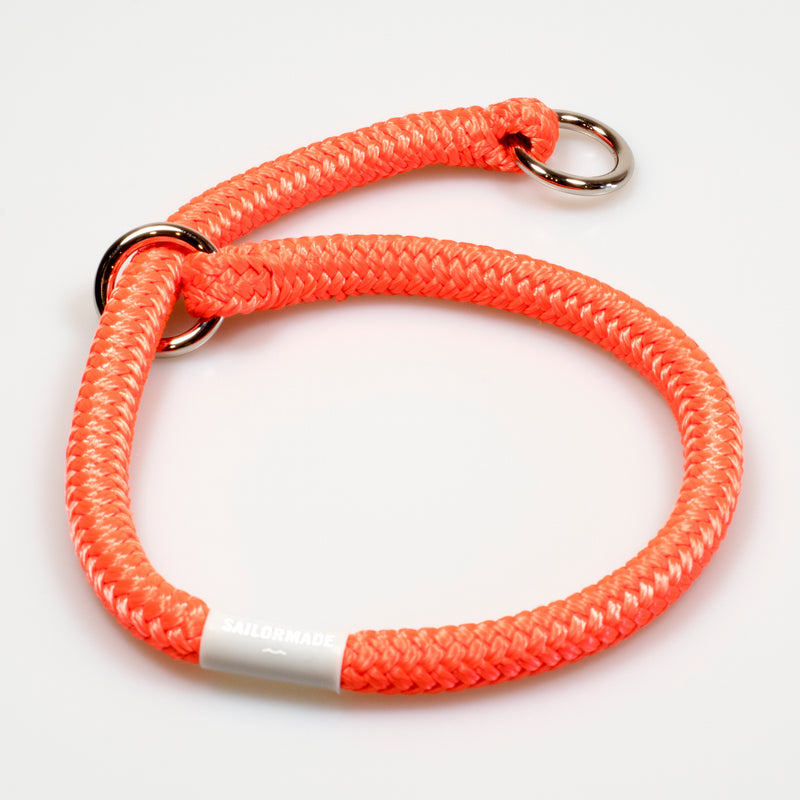 Riptide Reggie Rope Dog Collar in Buoy Orange