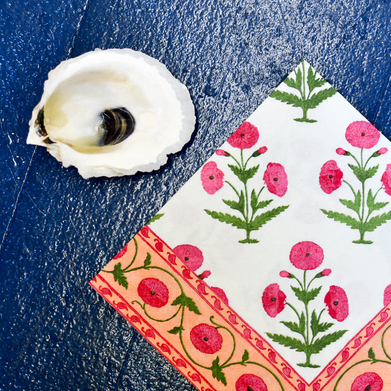 decoupage oyster shell diy kit in pink blooms