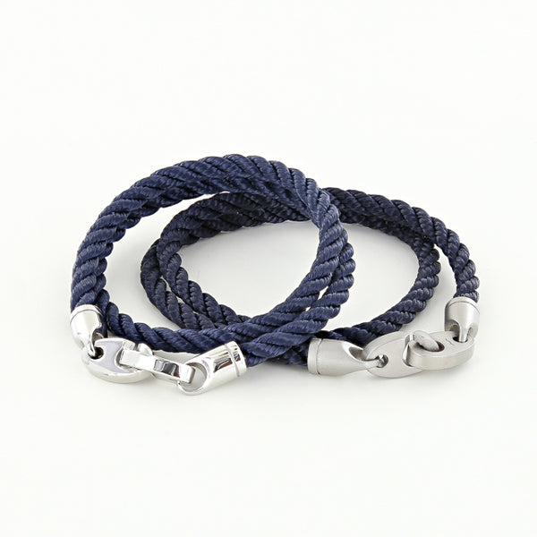 elsewhere and catch double rope bracelets in navy for his and her bracelets