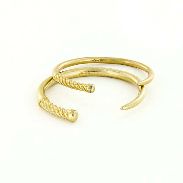unisex raw brass nautical fid cuff bracelet