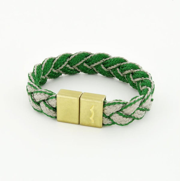 League Magnetic braided bracelet with brass clasp