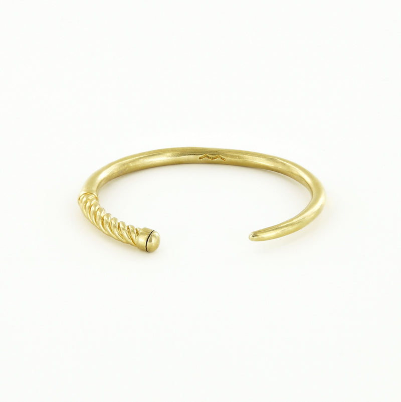 Slim Fid Cuff Bracelet in Raw Brass
