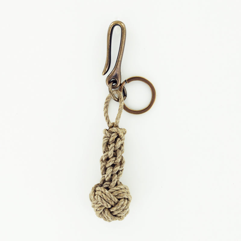 Shore Road Knot Keychain with Antique Brass Fish Hook