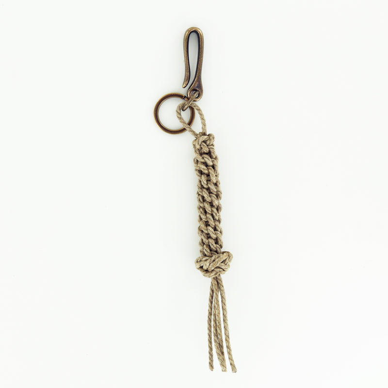 Barcliff Ave Knot Keychain with Antique Brass Fish Hook