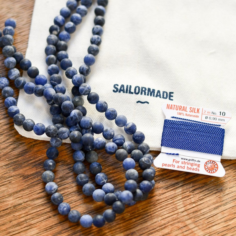 diy beading kit necklace and bracelet in sodalite