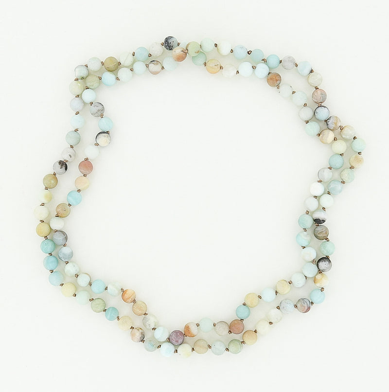 8mm amazonite necklace 45""