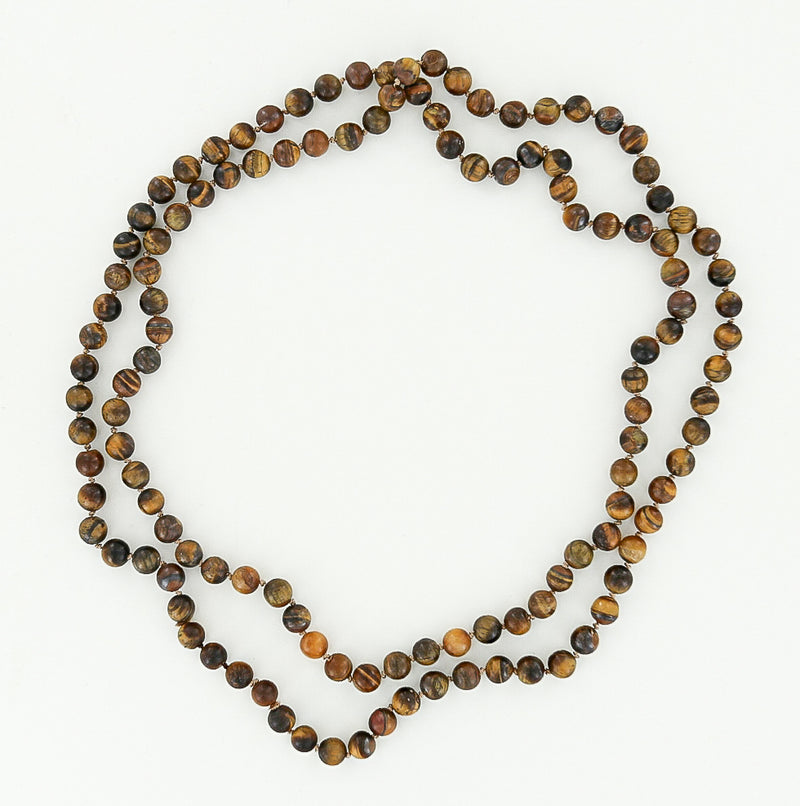 8mm tiger eye necklace 45""