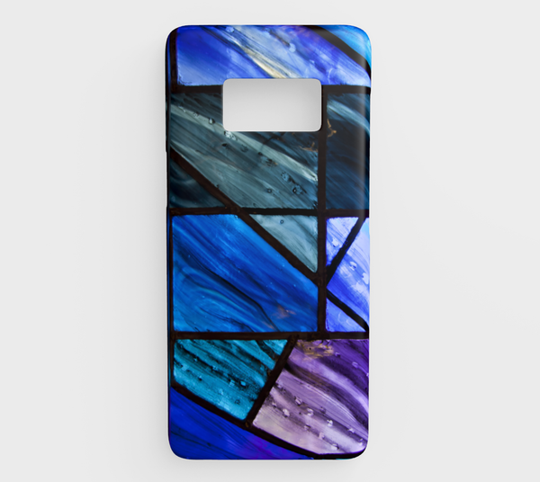 'Stain Glass Blues' Galaxy S8 case