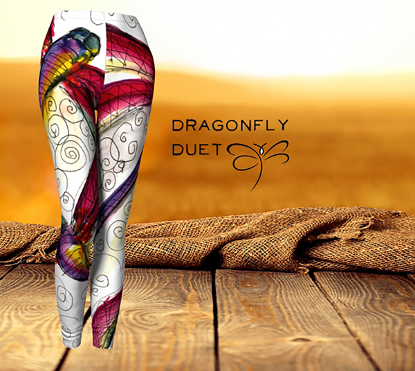 'Dragonfly Duet' women's  'ArtWear' Leggings