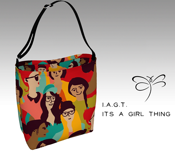 'I.A.G.T.'  It's A Girl Thing 'ArtWear' Day Tote